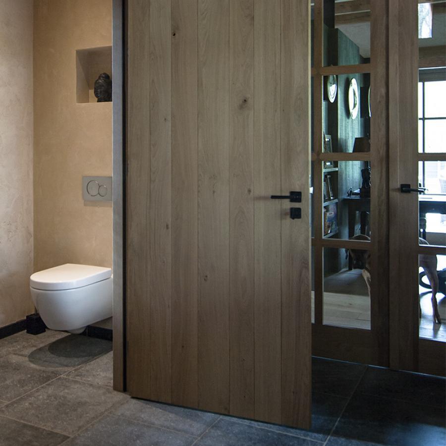 Waterdicht stucwerk voor badkamer douche en toilet artisan stucco mortars - Badkamer tegel helderwit ...
